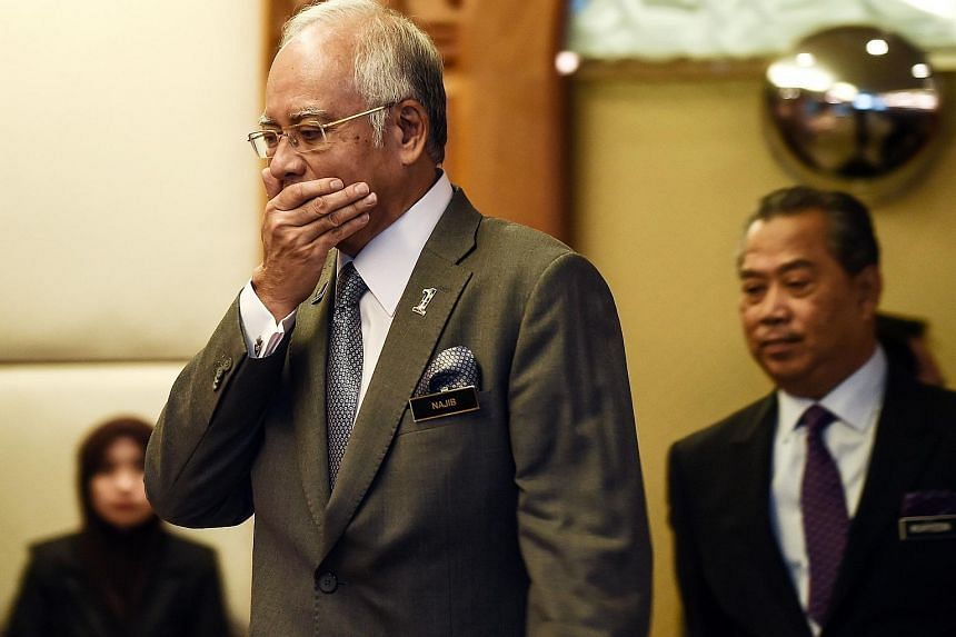 Malaysian Prime Minister Najib Razak (left) at an event on July 8, 2015.