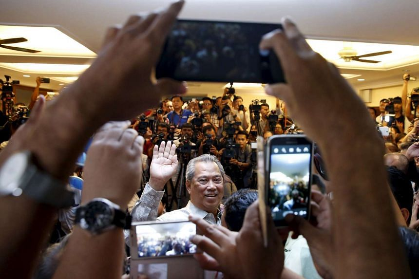 Former Malaysian Deputy Prime Minister Muhyuddin Yassin speaks to the media after he was sacked during yesterday's cabinet reshuffle in Kuala Lumpur, Malaysia, on July 29, 2015.