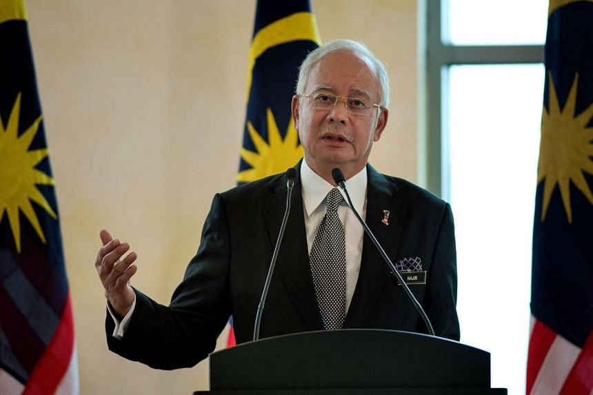 Malaysia's Prime Minister Najib Razak speaks during a joint press conference in Putrajaya, outside Kuala Lumpur, on Feb 6, 2015.