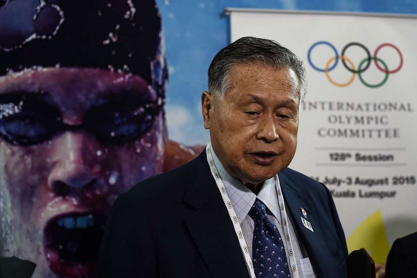 Former Japanese prime minister and Tokyo 2020 Olympics organising committee president Yoshiro Mori speaks with the media in Kuala Lumpur on July 29, 2015.