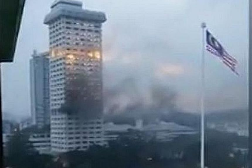The fire at the old tower of the police headquarters in Bukit Aman is believed to have originated on levels 9 and 10, where the criminal investigation and narcotics departments are located.