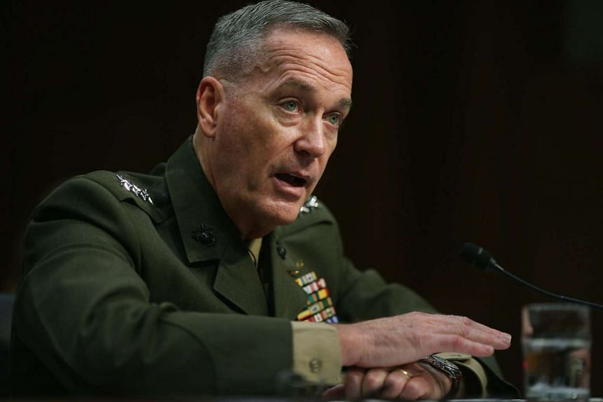 Commandant of the U.S. Marine Corps General Joseph Dunford Jr. testifies before the Senate Armed Services Committee during his confirmation hearing to be the next Chairman of the Joint Chiefs of Staff.