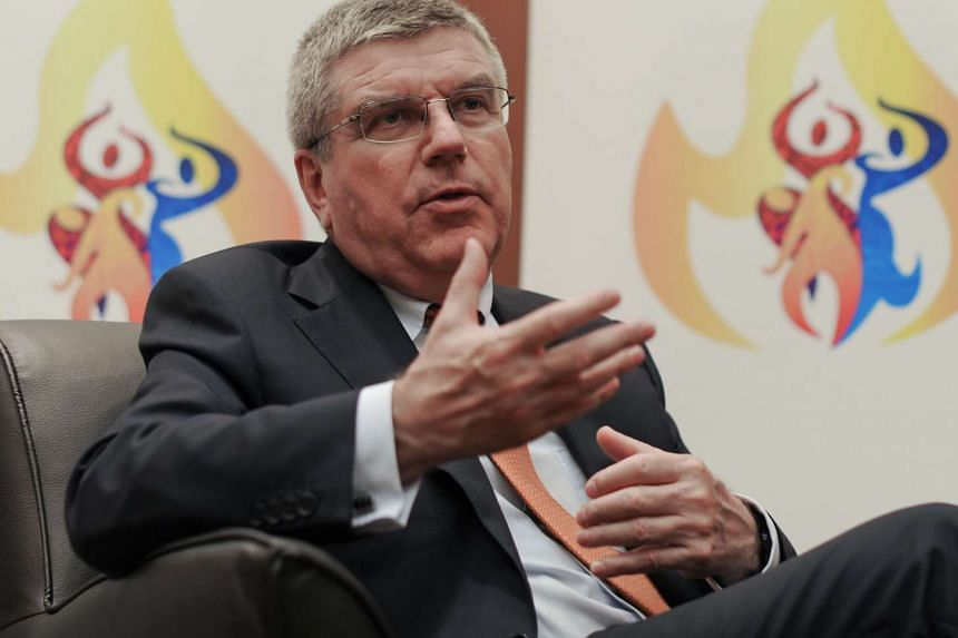 International Olympic Committee (IOC) president Thomas Bach during an interview on July 30, 2015.