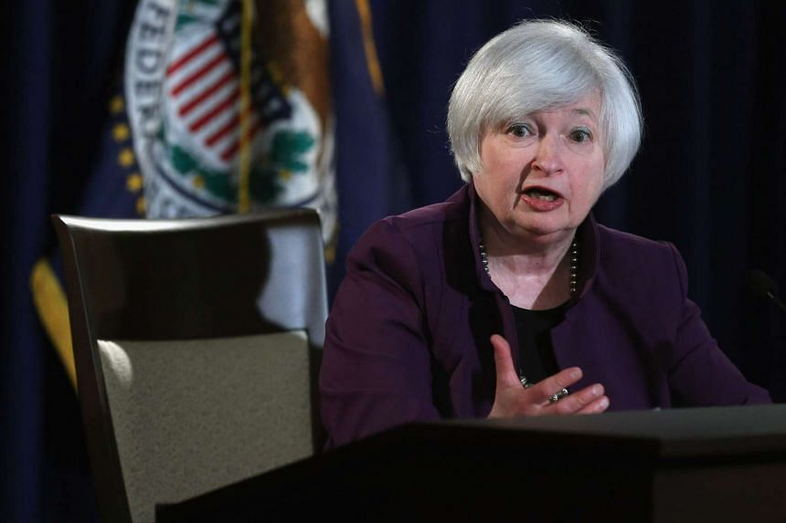 Federal Reserve Bank Chair Janet Yellen holds a news conference following a meeting of the Federal Open Market Committee at the Fed on June 17, 2015 in Washington, DC.
