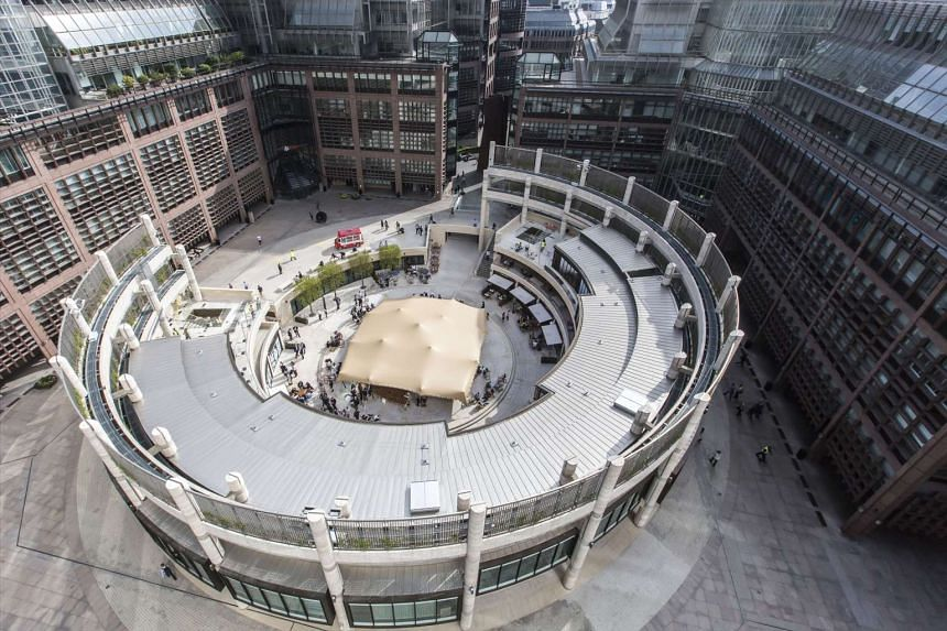 GIC has over 350 real estate investments in more than 40 countries. Prominent buys include stakes in Broadgate Circle (above) in London and Time Warner Centre in New York.