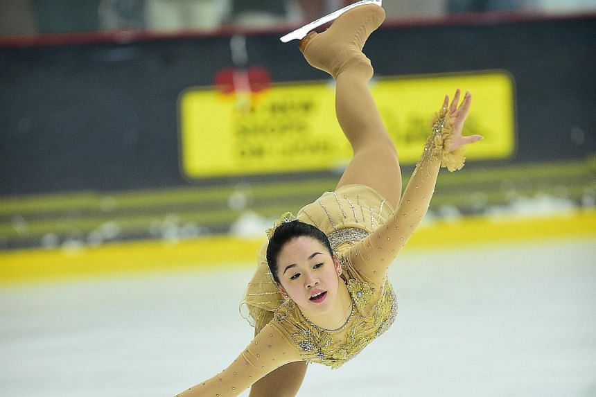 Figure skater Chloe Ing, 17, was inspired by watching Olympians on ice.