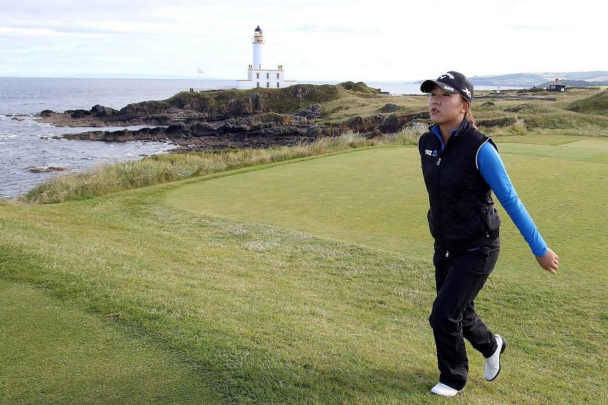 Lydia Ko, on the ninth tee on the first day of the Women's British Open, has had the benefit of spending time in Scotland. Last week, she took part in the Scottish Open where she finished tied fourth. Her caddie says she is picking up skills in playi