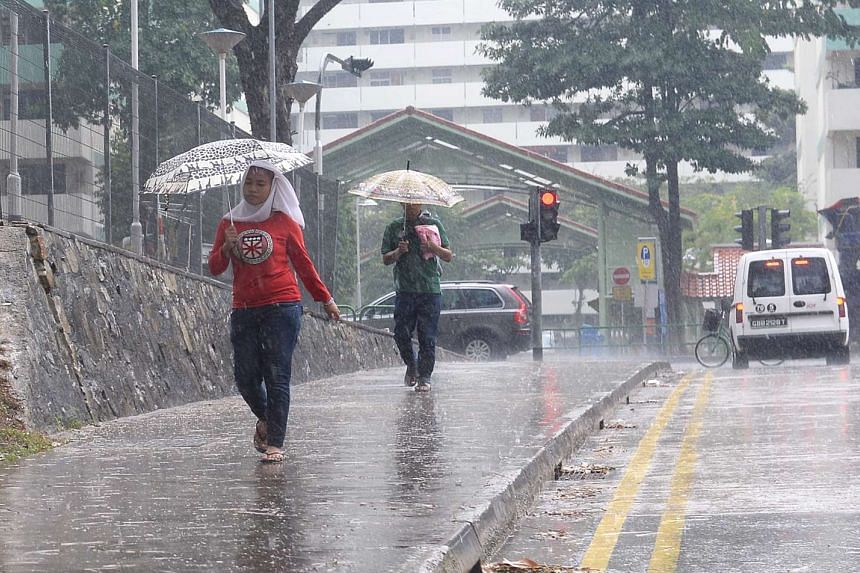 NEA added that thundery showers with gusty winds due to Sumatra squalls can be expected on two or three days in the mornings.