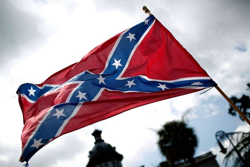 A file photo shows the Confederate flag, seen by many now as a white supremacist symbol.
