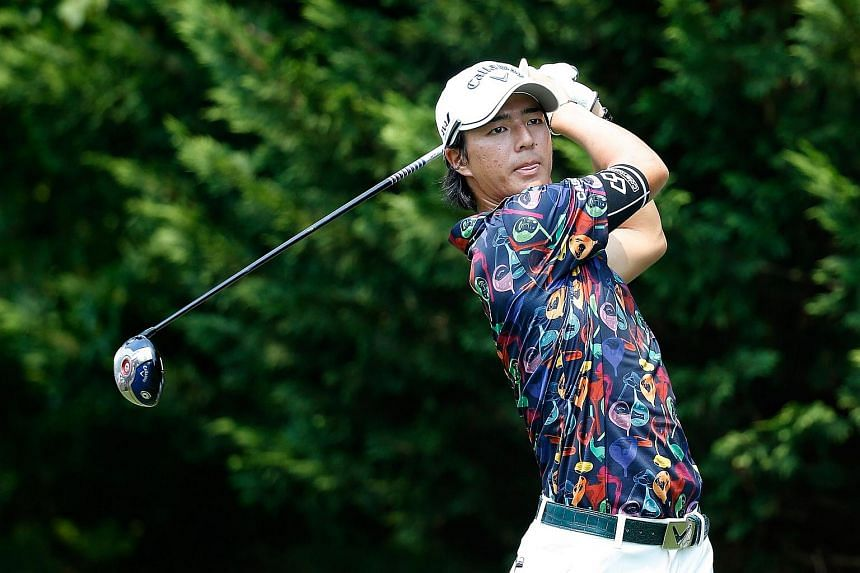 Ryo Ishikawa of Japan during the first round of the Quicken Loans National at the Robert Trent Jones Golf Club on July 30, 2015 in Gainesville, Virginia.