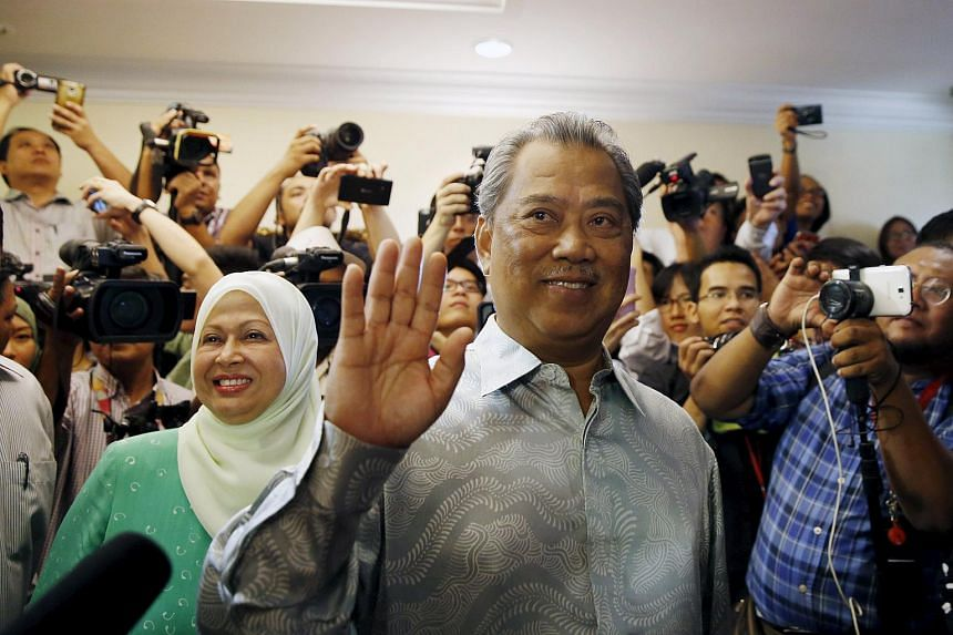 Former Malaysian Deputy Prime Minister Muhyiddin Yassin speaks to the media after he was sacked during a cabinet reshuffle.