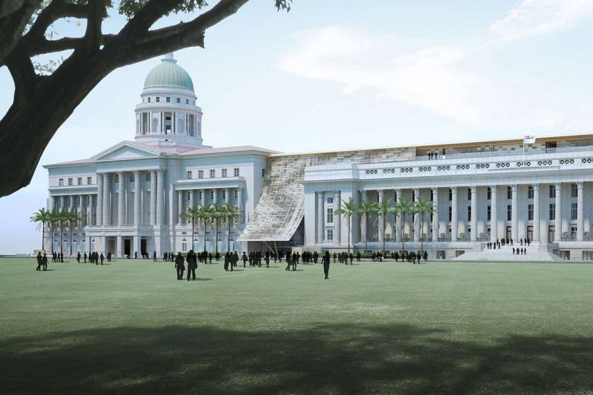 An artist's impression of the National Gallery of Singapore.