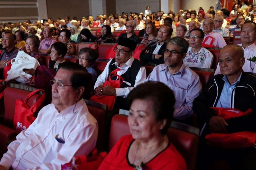 The audience at the SPF's SG50 Pioneer Appreciation Nite event at the Capitol Theatre on July 31, 2015.