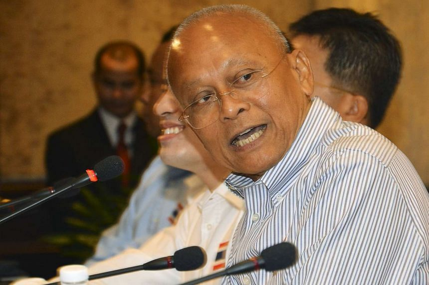 Suthep Thaugsuban, the leader of Thailand's opposition movement, during a news conference in Bangkok, Thailand, July 30, 2015.