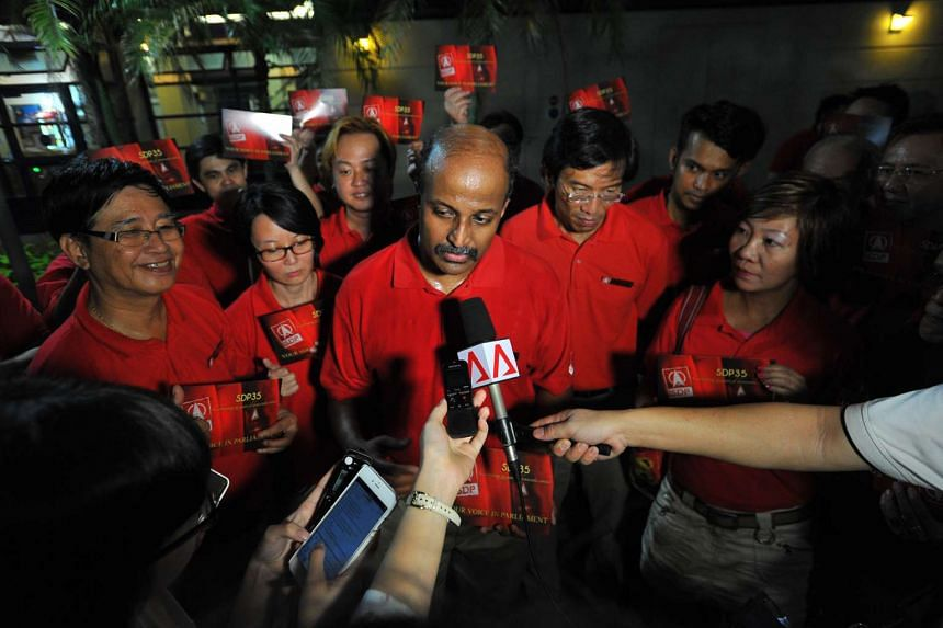 Singapore Democratic Party activist Paul Tambyah (centre) said the party will not contest Tanjong Pagar GRC.