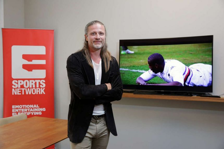 Arsenal legend and World Cup winner Emmanuel Petit at the official launch of the Eleven Sports Network.