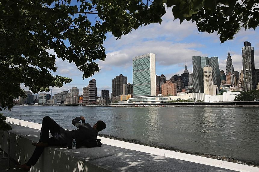The Manhattan skyline (above) is set to change with the arrival of new super tall buildings.