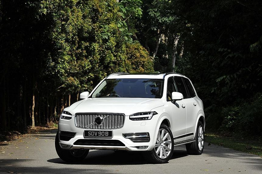 The console of the XC90 has a touchscreen that works like a tablet.