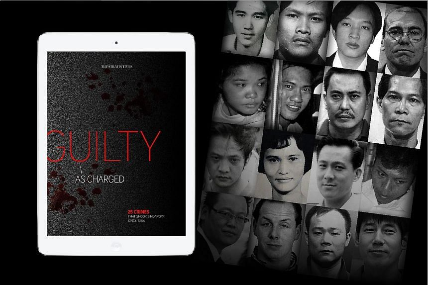 Guilty As Charged contains never-before-seen pictures from Straits Times and police archives. The crime stories span decades, from the Sunny Ang murder in 1965 to the Downtown East Gang slashings in 2010.