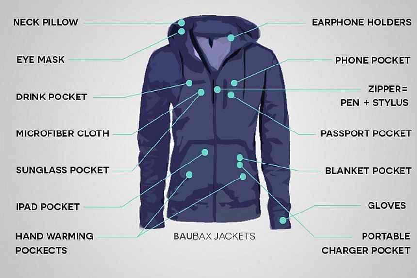 A multi-feature travel jacket by Chicago-based start-up Baubax raised $3.2 million in kickstarter funds, with Singaporeans being among its top supporters.