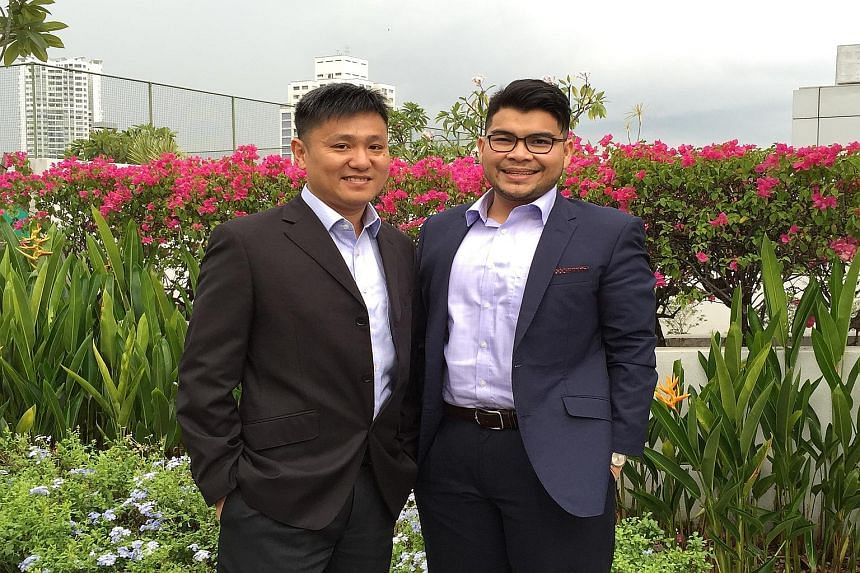 Chief executive Kevin Phua (left), seen here with executive director Hazwan Rahman, says CMC Infocomm plans to expand into Malaysia. The firm currently has businesses in Thailand, the Philippines and Singapore.