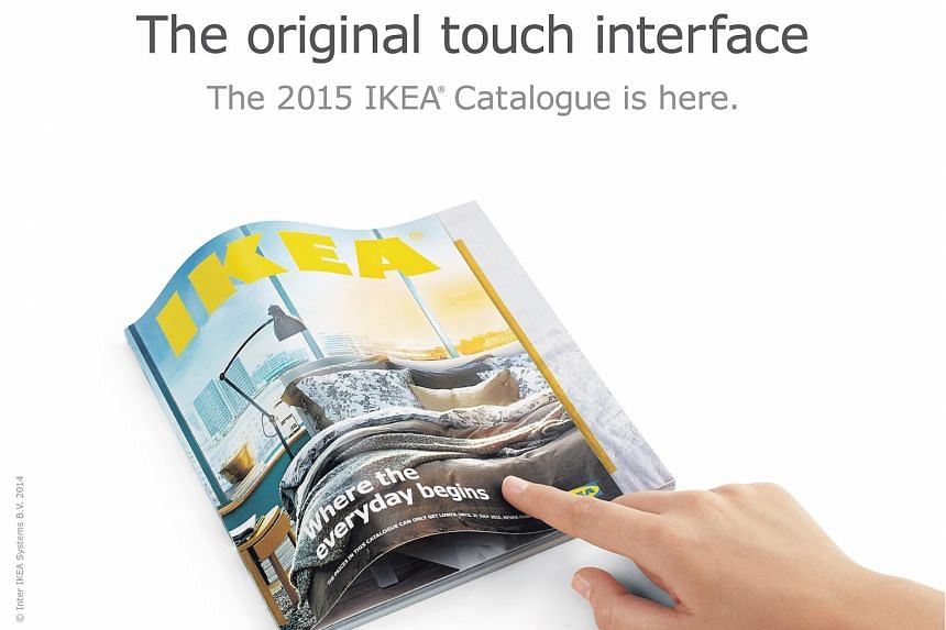 """Ikea's ad for its furniture catalogue last year featured the """"bookbook"""", and appeared to spoof an ad for Apple's ultra-thin Macbook."""