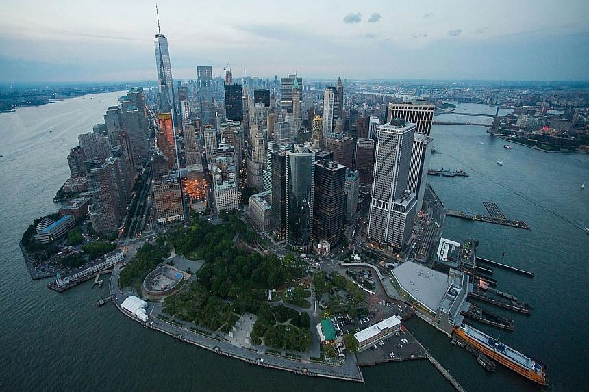 """Developers can buy """"air rights"""" for hefty prices from neighbouring, smaller buildings in New York, allowing them to build higher and afford their clients unrestricted views. But these super skinny towers, made possible by progress in technology and b"""