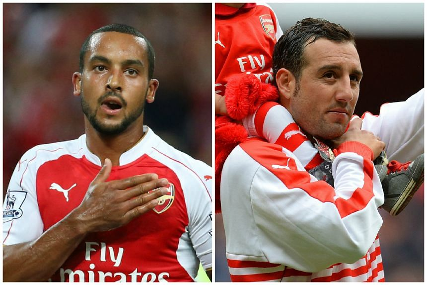 Theo Walcott (left) and Santi Cazorla have both agreed contract extensions with Arsenal.