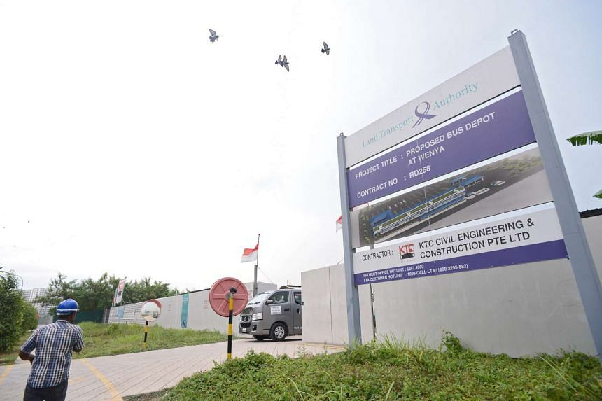 Tower Transit at Bulim Bus Depot in Jurong West.