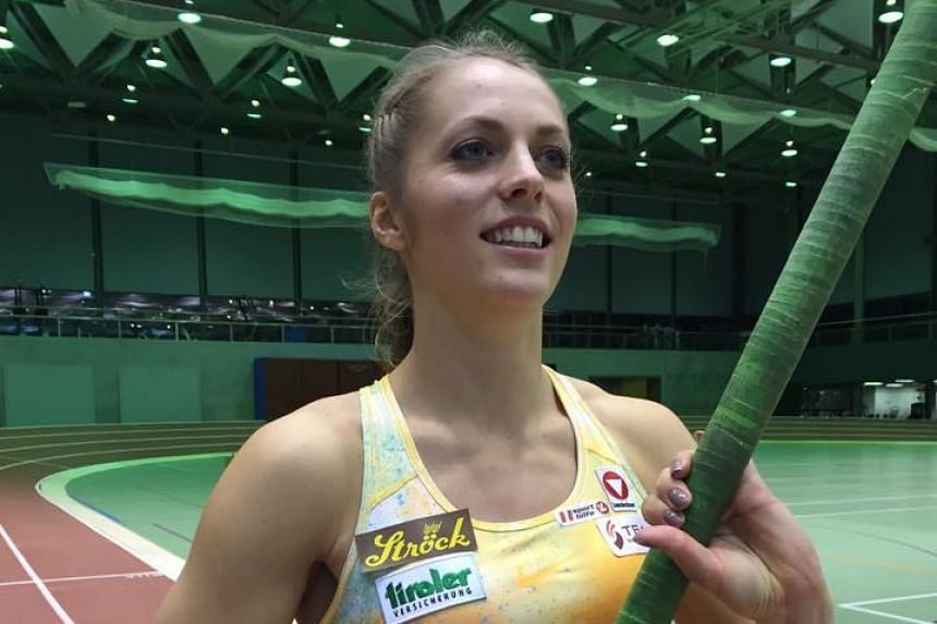 Pole vaulter Kira Gruenberg in a photo from her Facebook page.