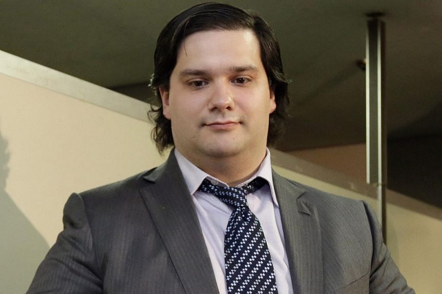 A file picture dated 28 February 2014 shows Mark Karpeles attending a news conference in Tokyo, Japan.