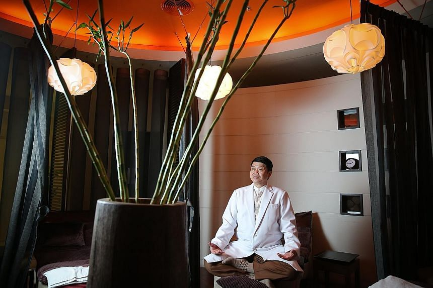 """Mr Jimi Tan says he is """"like the 1,000-hand Bodhisattva"""". The former Jack of all trades is now master of a sprawling domain ranging from reflexology to restaurants."""