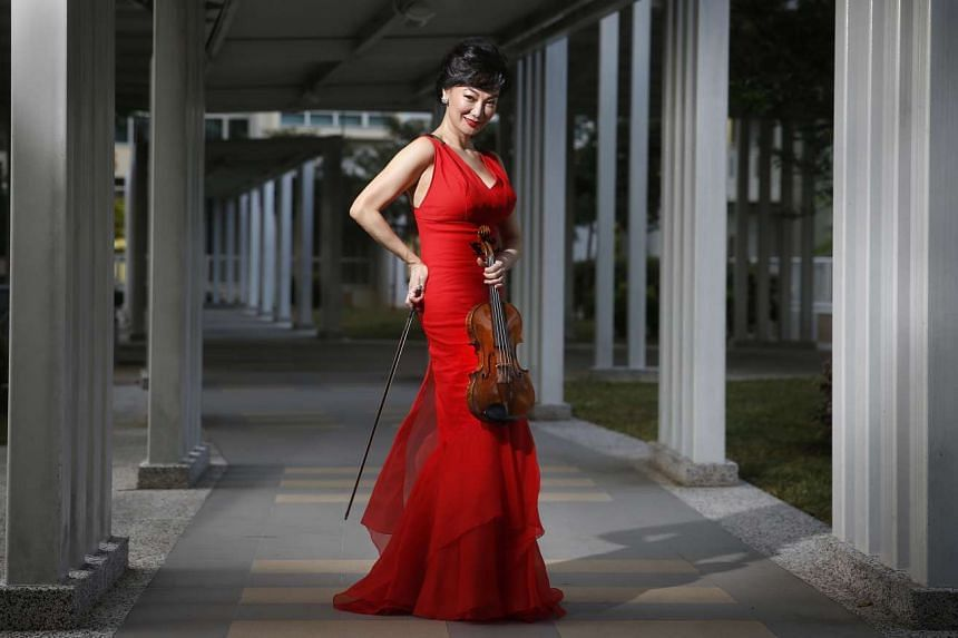 Ms Siow Lee Chin, one of Singapore's most famous violinists.