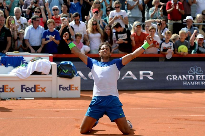 Rafael Nadal's win against Fabio Fognini at the Hamburg Open is his 67th career title.