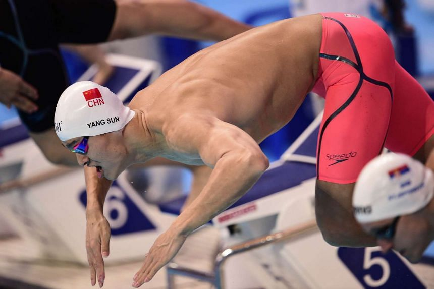 Sun Yang of China competes in the preliminary heats of the men's 400m freestyle swimming event at the 2015 FINA World Championships in Kazan on Aug 2, 2015.