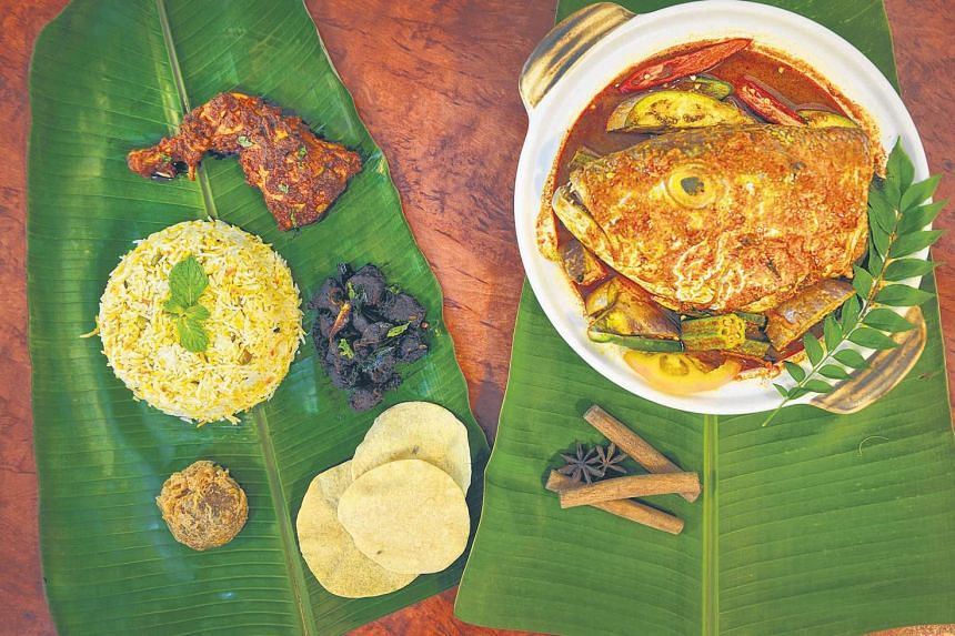Fishhead curry (above) from Samy's Curry Restaurant.