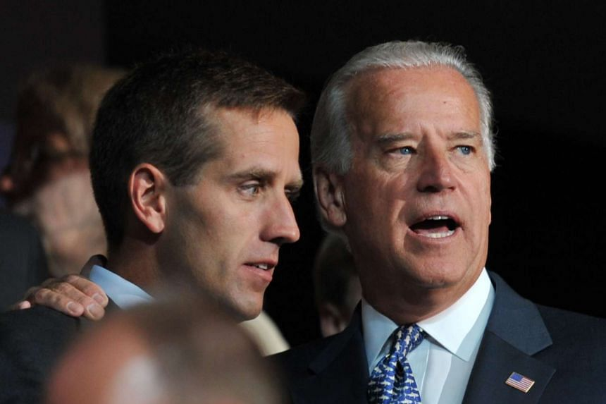 US Vice-President Joe Biden (right) is seen in a 2008 file photo with his late son, Beau Biden.