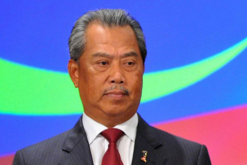 There is no rabble rousing speech or claims of conspiracy from Mr Muhyiddin (above).