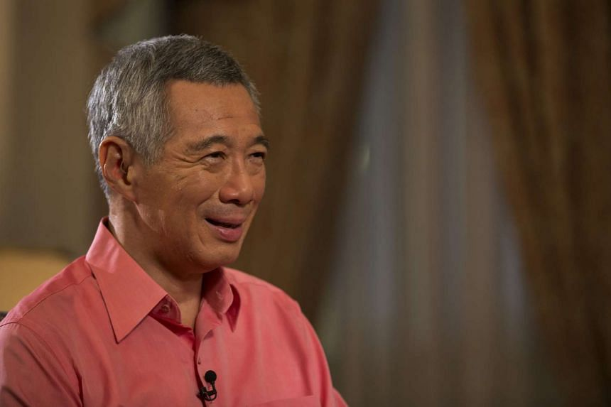 "Prime Minister Lee Hsien Loong at the video interview for the ""A Conversation With The Prime Minister"" TV programme broadcasted on Aug 2, 2015."