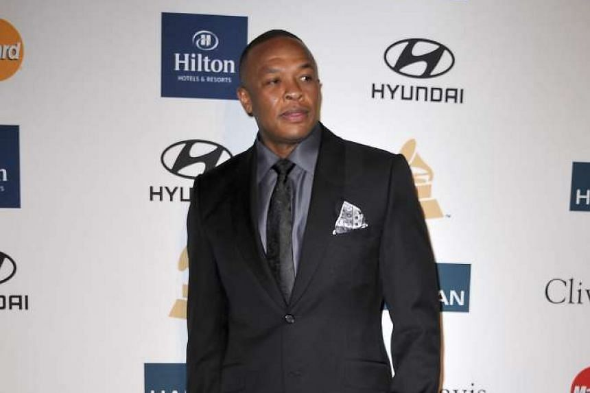 Dr Dre arrives for the Clive Davis And The Recording Academy's 2012 Pre-Grammy Gala And Salute To Industry Icons in Beverly Hills, California, in this Feb11, 2012 file photo.
