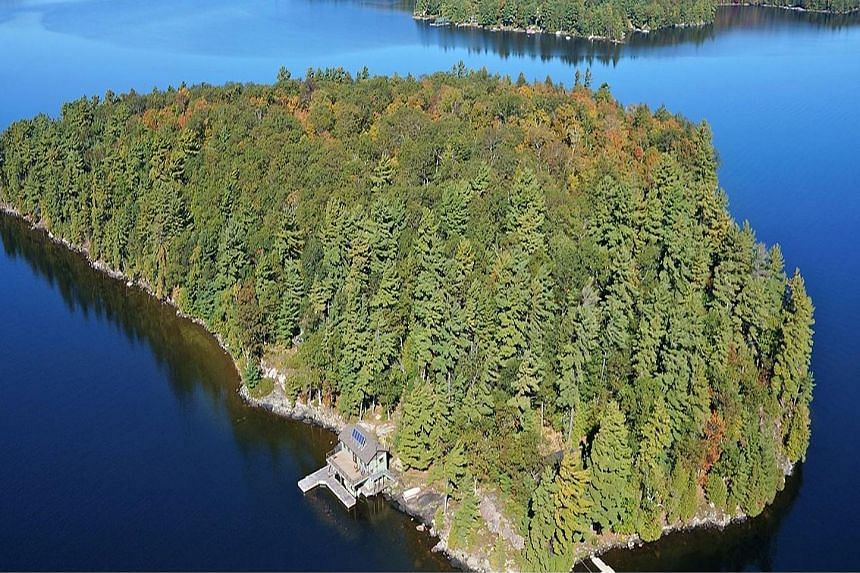 The owner of this 80,000 sq m island on Lake of Bays in Muskoka, Central Ontario, offered by Sotheby's for US$4 million (S$5.5 million) will have to think how he is going to stay alive at the place.