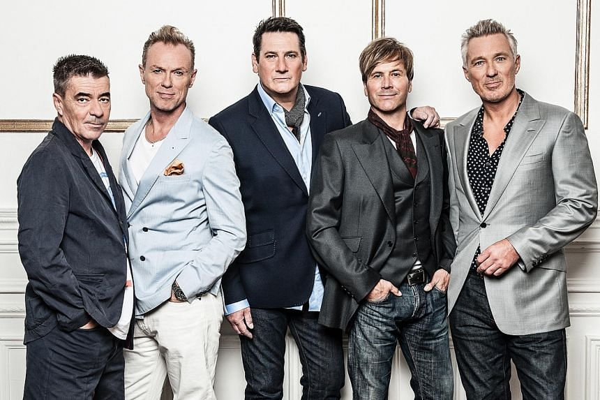 Spandau Ballet comprise (from left) John Keeble, Gary Kemp, Tony Hadley, Steve Norman and Martin Kemp.