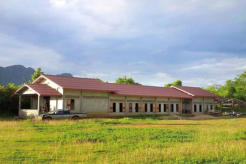 The Na Phong-NTU Singapore Friendship Hall, built by 161 students, will serve as a central venue for more than 400 villagers in Na Phong village.