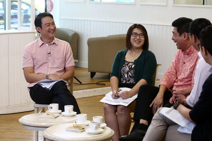 (From left) Dr Lam Pin Min, Lianhe Zaobao reporter Li Yuanyi, Mr Samuel Ng, Mr Chua Chim Kang and Mr Wong Woon Hong on the first episode of Ministerial Coffee Talk.