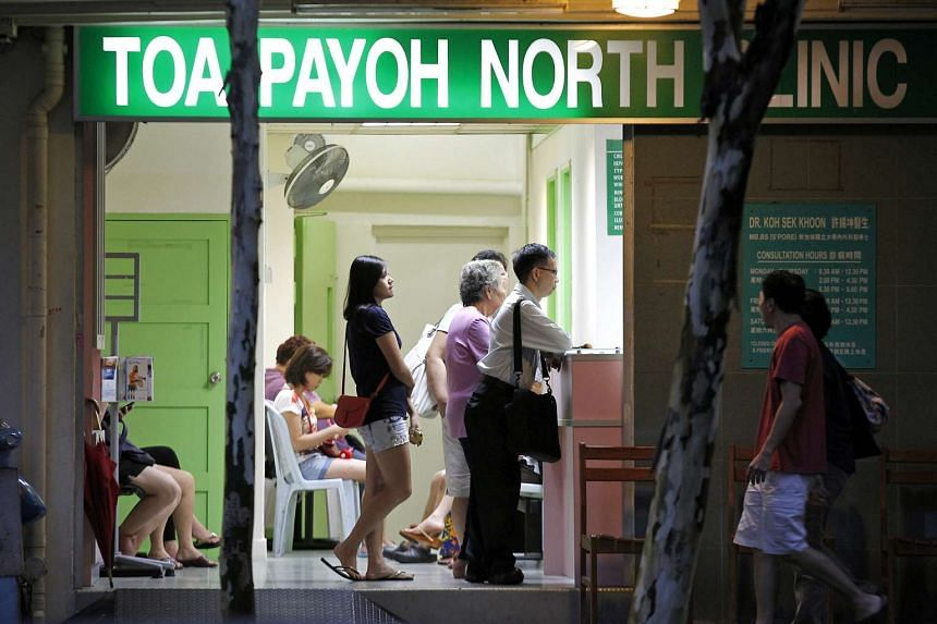 People at the Toa Payoh North Clinic, a private general practitioner clinic, on Nov 28, 2011.