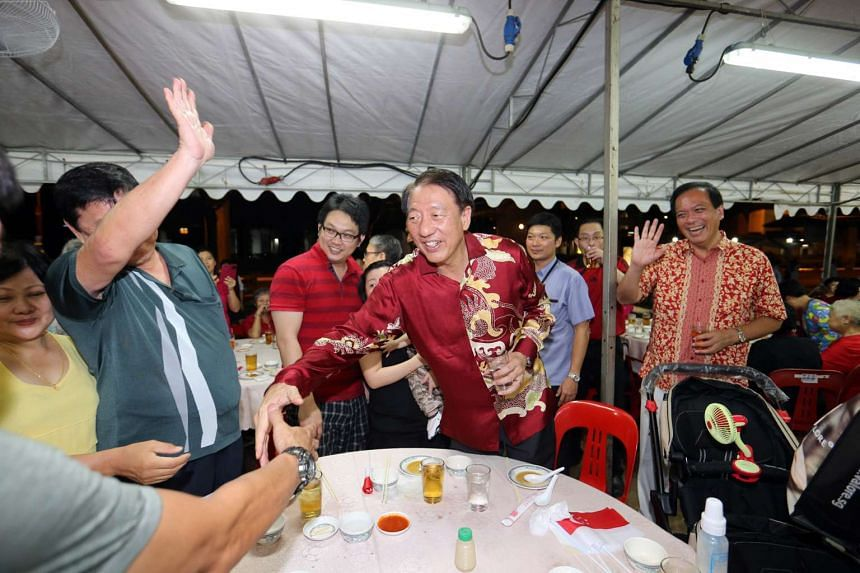 Deputy Prime Minister Teo Chee Hean at a National Day dinner in Eunos ward on Aug 2, 2015.