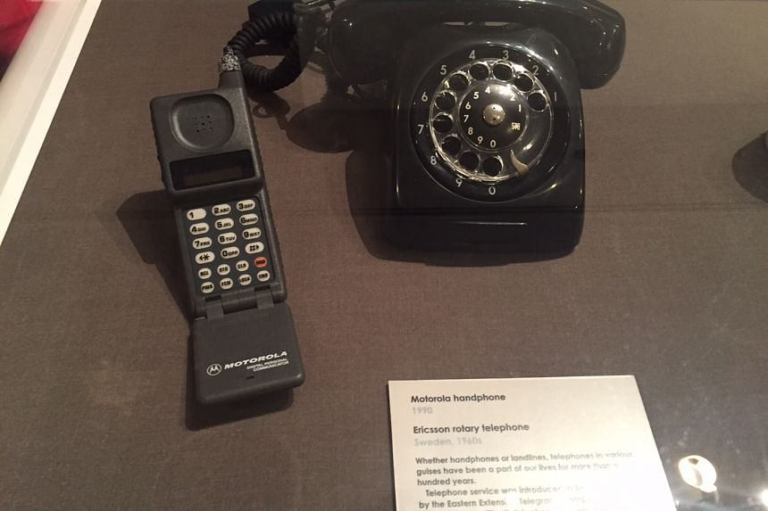 Mobile phone from the late 1980s.
