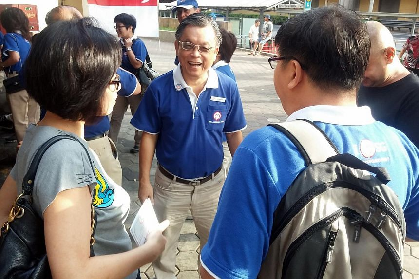 Singaporeans First (SingFirst) party chief Tan Jee Say at Block 88 coffeeshop in Commonwealth on Aug 2, 2015.