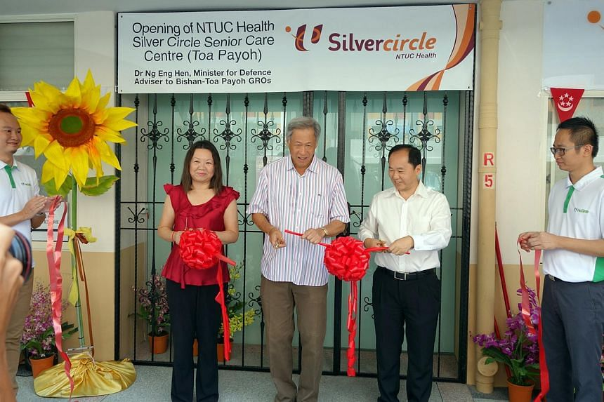 From left to right: Ms Tan Hwee Bin, chairman, NTUC Health, Dr Ng Eng Hen, Defence Minister and an MP for Bishan-Toa Payoh GRC, and Mr Chua Song Khim, CEO, NTUC Health.
