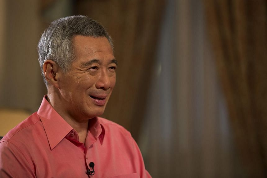 Minister Lee Hsien Loong at the interview for A Conversation With The Prime Minister TV programme which was aired on Aug 2, 2015.